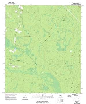 Manningtown topo map