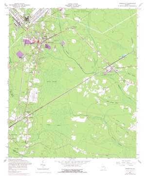 Hinesville topo map
