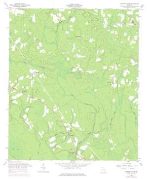 Glennville Se topo map