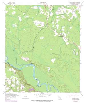Glennville Sw topo map