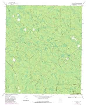 Waycross Sw topo map