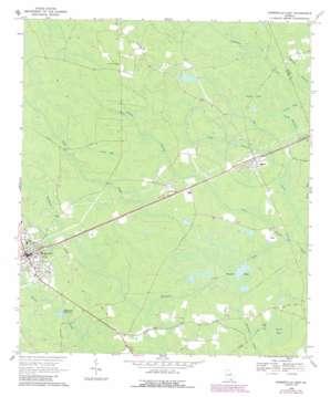 Homerville East topo map
