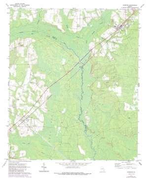 Screven topo map