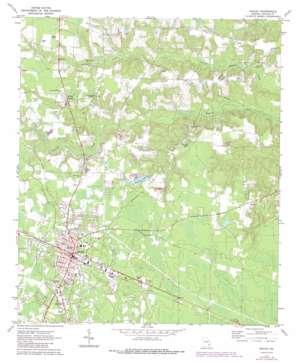 Baxley topo map