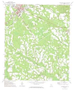 Hazlehurst South topo map