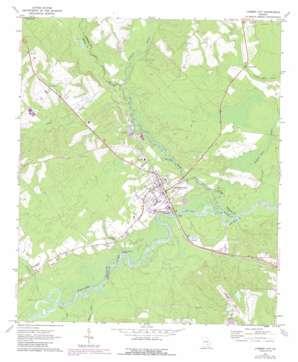 Lumber City topo map