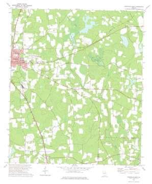 Nashville East topo map