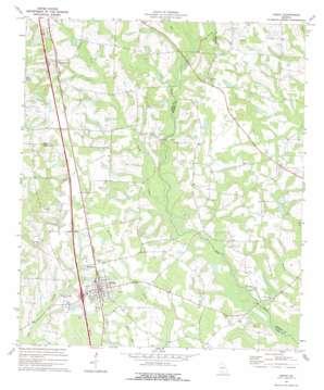 Lenox topo map