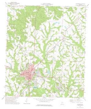 Sylvester topo map