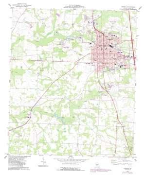 Cordele topo map