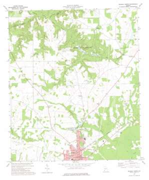 Blakely North topo map