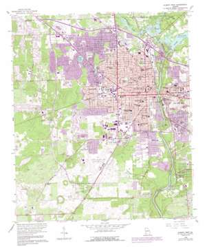 Albany West topo map