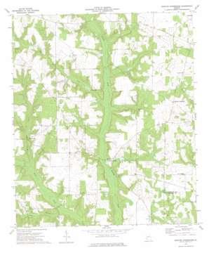 Martins Crossroads topo map