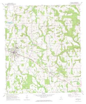 Ashford topo map