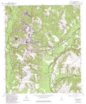 Daleville topo map