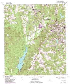 Ozark topo map