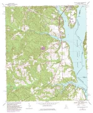 Eufaula South topo map