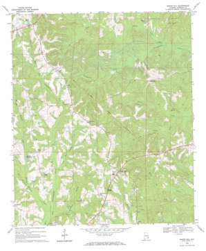 Baker Hill topo map