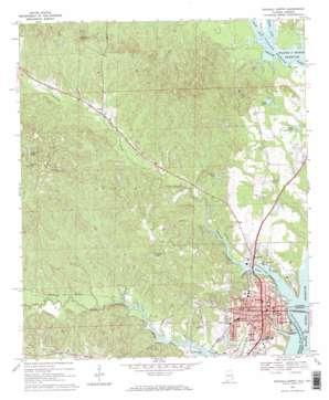 Eufaula North topo map