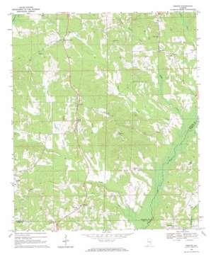 Perote topo map