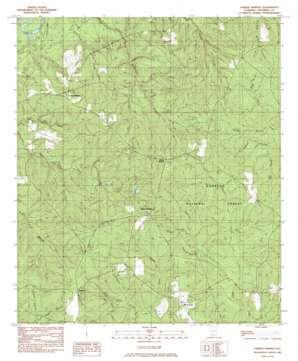 Parker Springs topo map