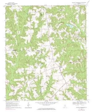 Danleys Crossroads topo map