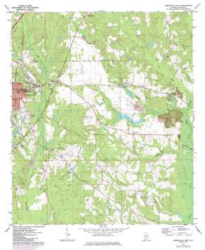 Greenville East topo map