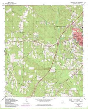Greenville West topo map