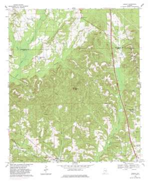 Ansley topo map