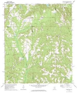 Danielsville topo map