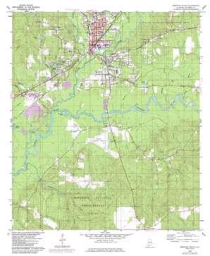 Brewton South topo map