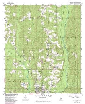 Brewton North topo map