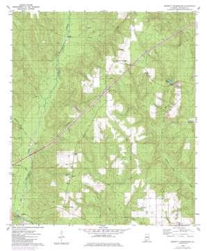 Barnett Crossroads topo map