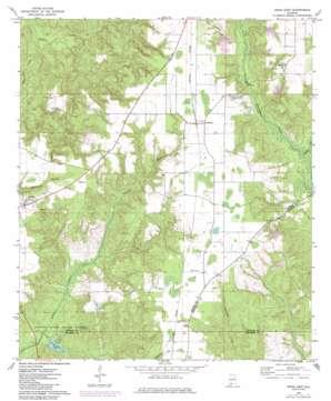 Uriah East topo map