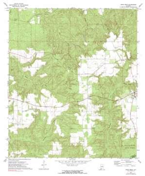 Uriah West topo map
