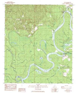 Carlton topo map