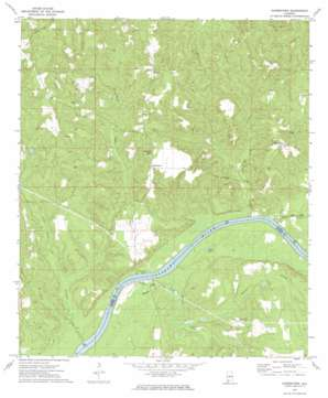 Gainestown topo map