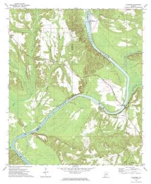 Claiborne topo map