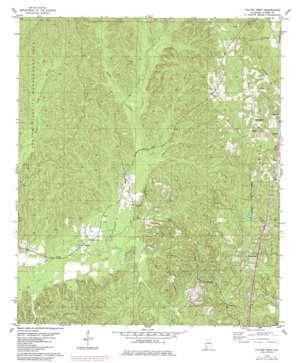Fulton West topo map