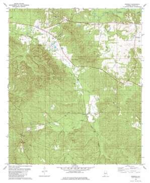 Rosebud topo map