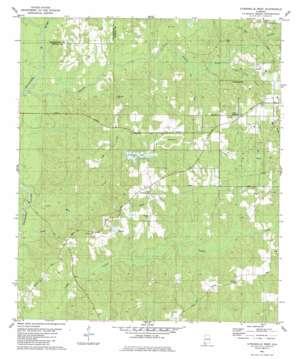 Citronelle West topo map