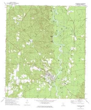 Leakesville topo map