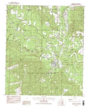 Beaumont topo map