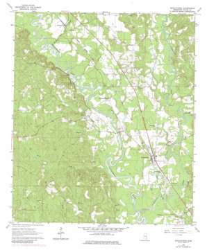 Buckatunna topo map
