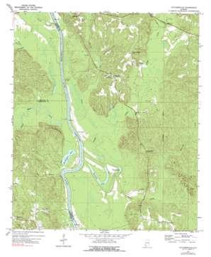 Tattlersville topo map