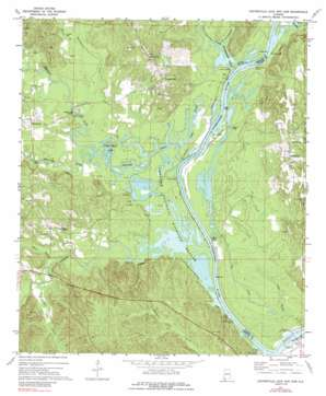 Coffeeville Lock And Dam topo map