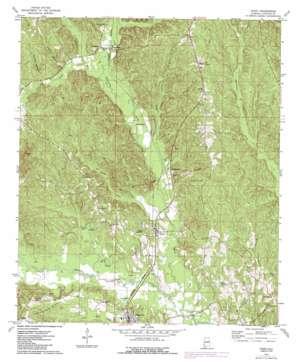 Toxey topo map