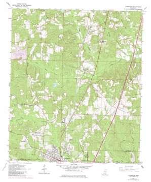 Lumberton topo map