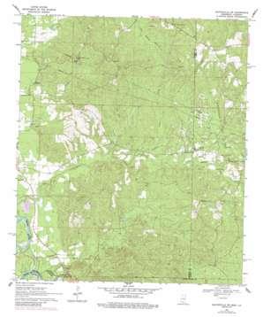 Baxterville Sw topo map