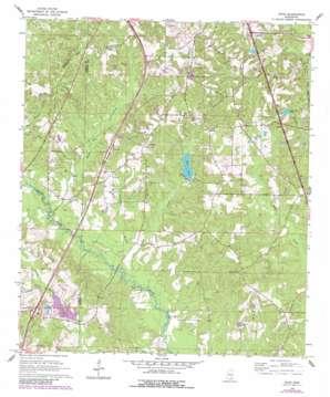 Dixie topo map